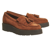 shoes,loafers,flatforms,brown,suede
