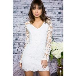 Destiny white crochet dress