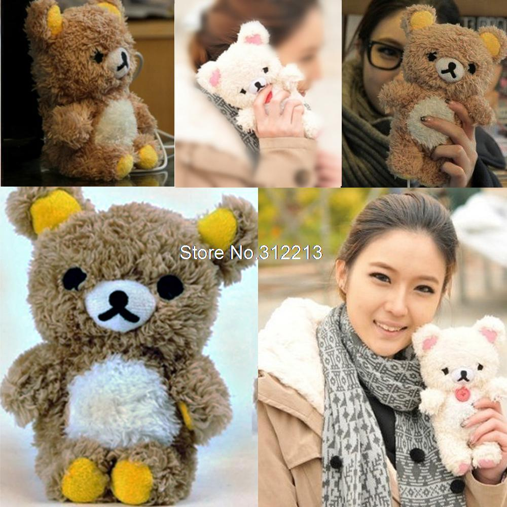 New 3D Fashion Cute Teddy Bear Cool Plush Toy Doll Cover Case For Apple iphone 4 4g 4s 5 5s 5c Mobile Phone-in Phone Bags & Cases from Electronics on Aliexpress.com