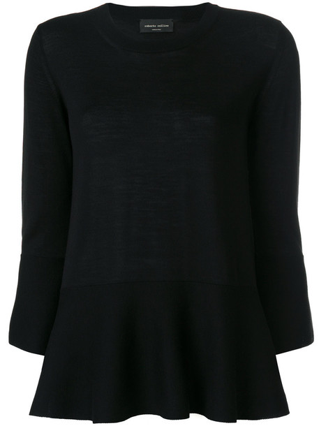 Roberto Collina jumper women black wool sweater