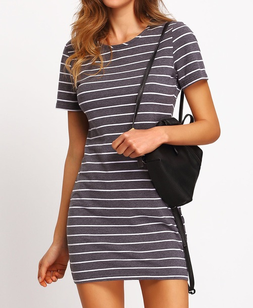 dress girly t-shirt dress stripes striped dress