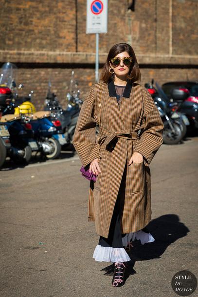 styledumonde blogger shoes skirt coat bag sunglasses