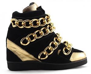 GOLD CHIANS WEDGE SNEAKERS   eBay