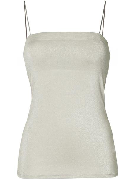 Estnation - cami top - women - Rayon/Nylon/Polyester - 38, Brown, Rayon/Nylon/Polyester