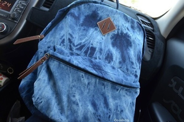 bag jeans bookbag washed out acid wash same design