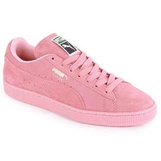 shoes light pink suede pumas