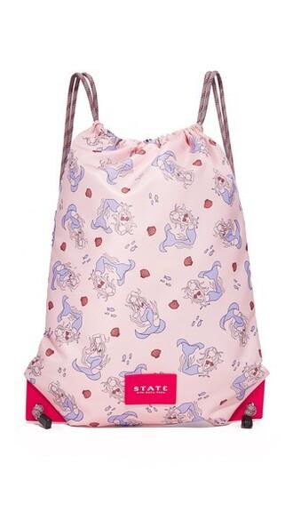 drawstring backpack mermaid bag