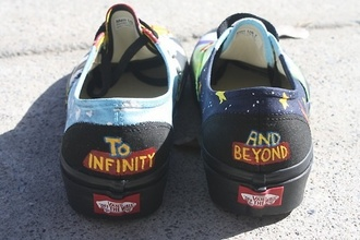 shoes toy story vans vans off the wall galaxy galax sneakers vans authentic to infinity and beyond