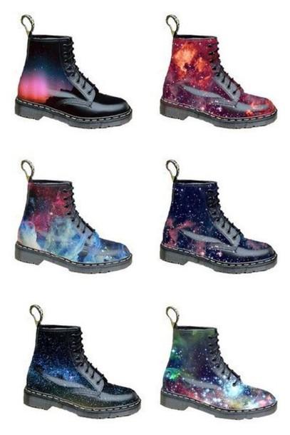 shoes dope kawaii boot boots galaxy print