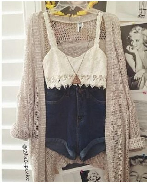 top crop tops lace top white crop tops strappy bralette boho cardigan coat shorts
