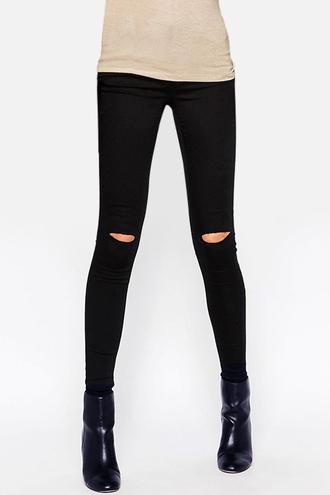 jeans zaful ripped jeans black distressed denim shorts trendy streetwear