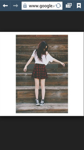 acacia brinley,plaid skirt,redandblack,skirt