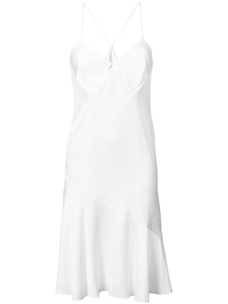Galvan dress slip dress women midi white