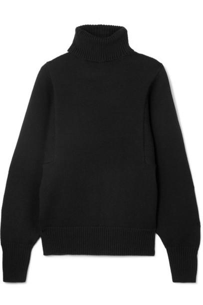 The Row sweater turtleneck turtleneck sweater black wool