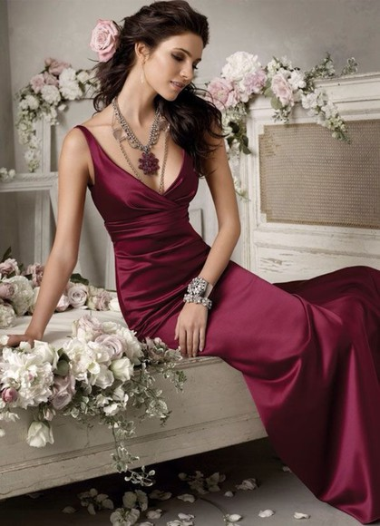 dress burgundy formal dresses