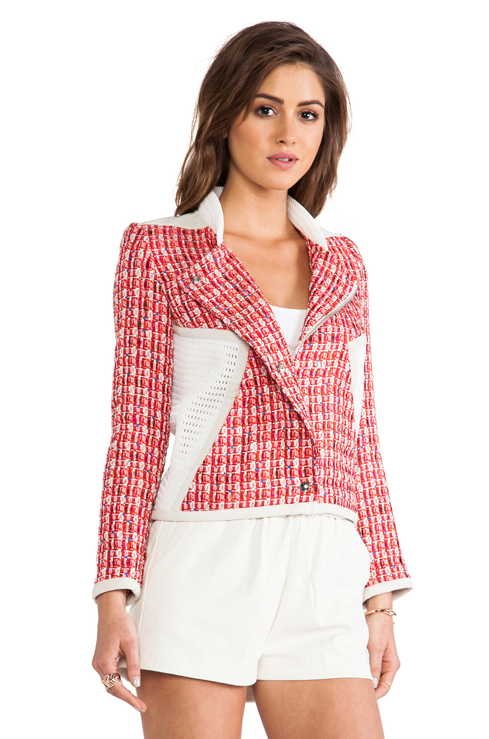 IRO Aubrey Jacket in Red Multico | REVOLVE