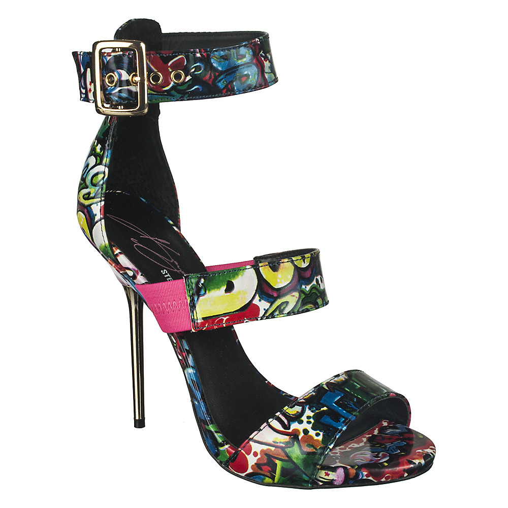 Keyshia Cole by Steve Madden Womens Telme graffiti high heel | Shiekh Shoes