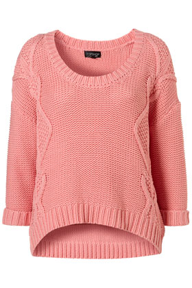 Knitted Crop Cable Jumper - Topshop USA