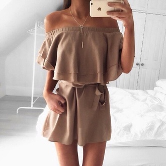 dress girl girly girly wishlist outfit two piece dress set beige beige dress fall outfits autumn/winter pretty beautiful