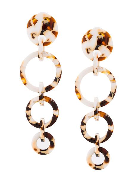 Lele Sadoughi women earrings hoop earrings white jewels