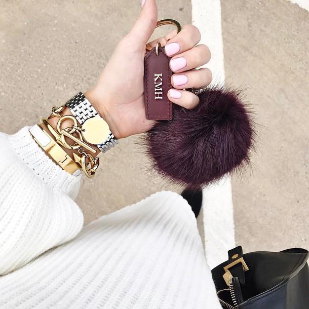 Nail Polish Tumblr Nails Pink Nails Fur Keychain