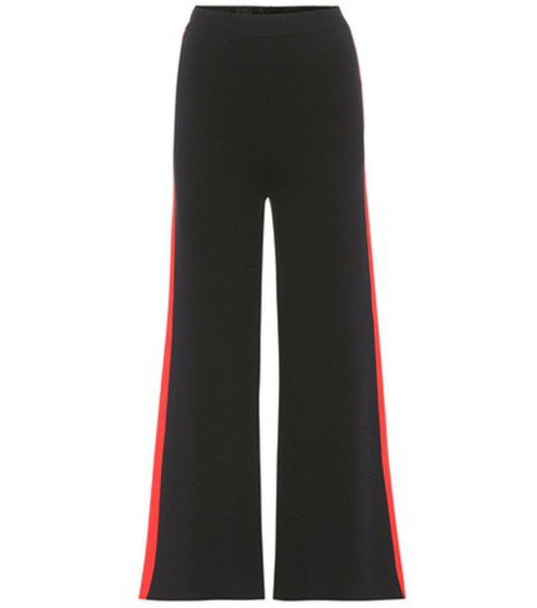 Stella McCartney Cropped cotton trousers in blue