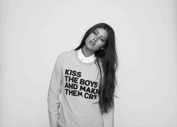 sweater kiss the boys and make them cry
