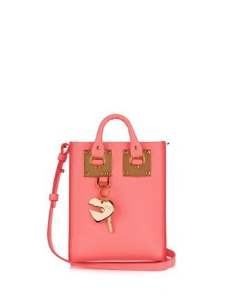 cross bag leather pink