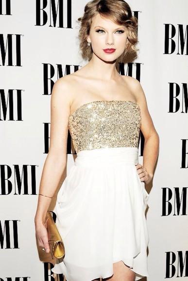taylor swift dress sparkles white dress sparkly dress