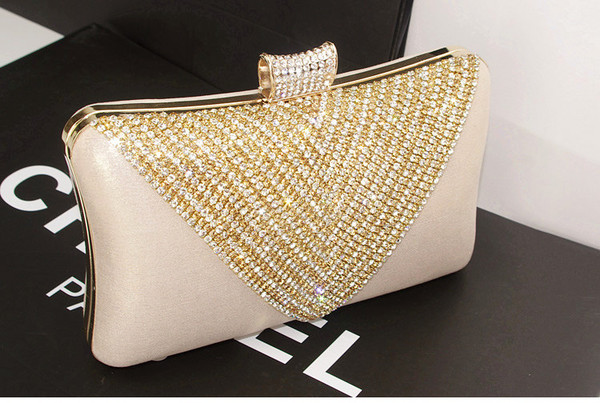 bag designer clutch crystal bag clutch box clutch crystal evening bag gold clutch prom bag spike rivet clucth clear purse chanel shiny bag crystal bag. handbag ring bag. bling shoulder couture handbag chic perfum evening outfits handbag. crystal bag