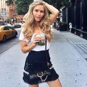 t-shirt,as by df,fashion blogger,maja malnar,streetstyle,nyfw,nyfw 2016,new york city,white tee,new york fashion week