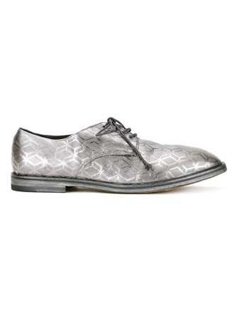 metallic shoes lace-up shoes lace