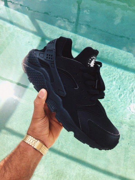 nike huarache black mens