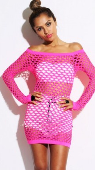 dress prom dress pink top pink hot high low