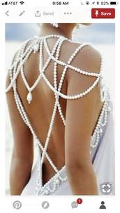 dress,pearl backing