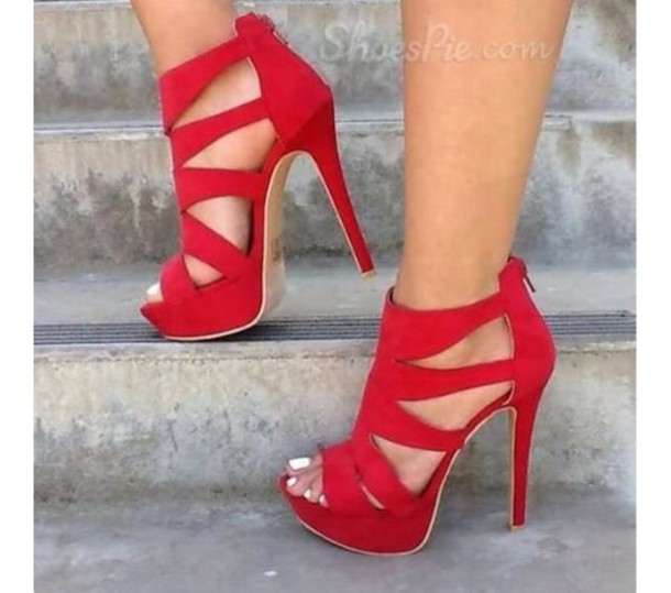 Shoes: red dress, black dress, white dress, heels, pumps, red ...