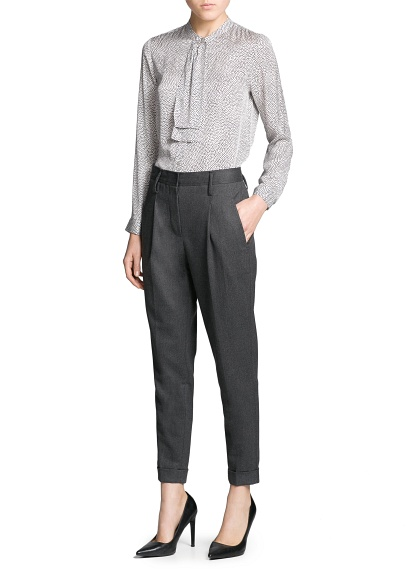 MANGO - CLOTHING - PREMIUM - Merino wool-blend trousers