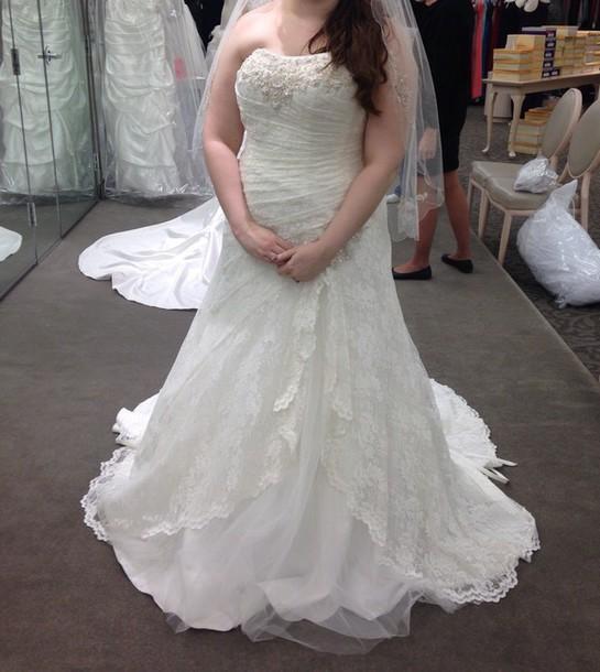 dress lace wedding dress strapless