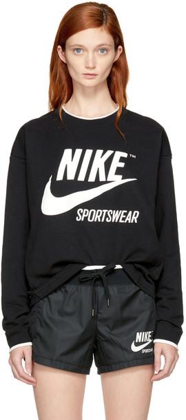 Nike sweatshirt black sweater