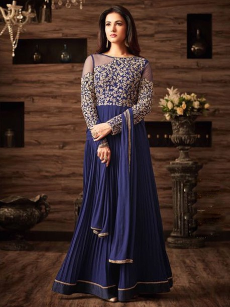 dress georgette suit gown style suit gown salwar suit