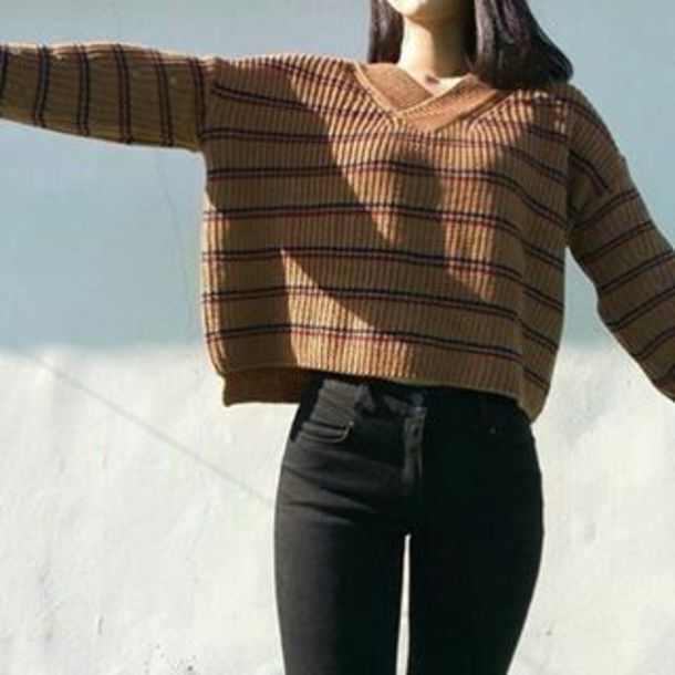 sweater stripes striped top striped sweater top