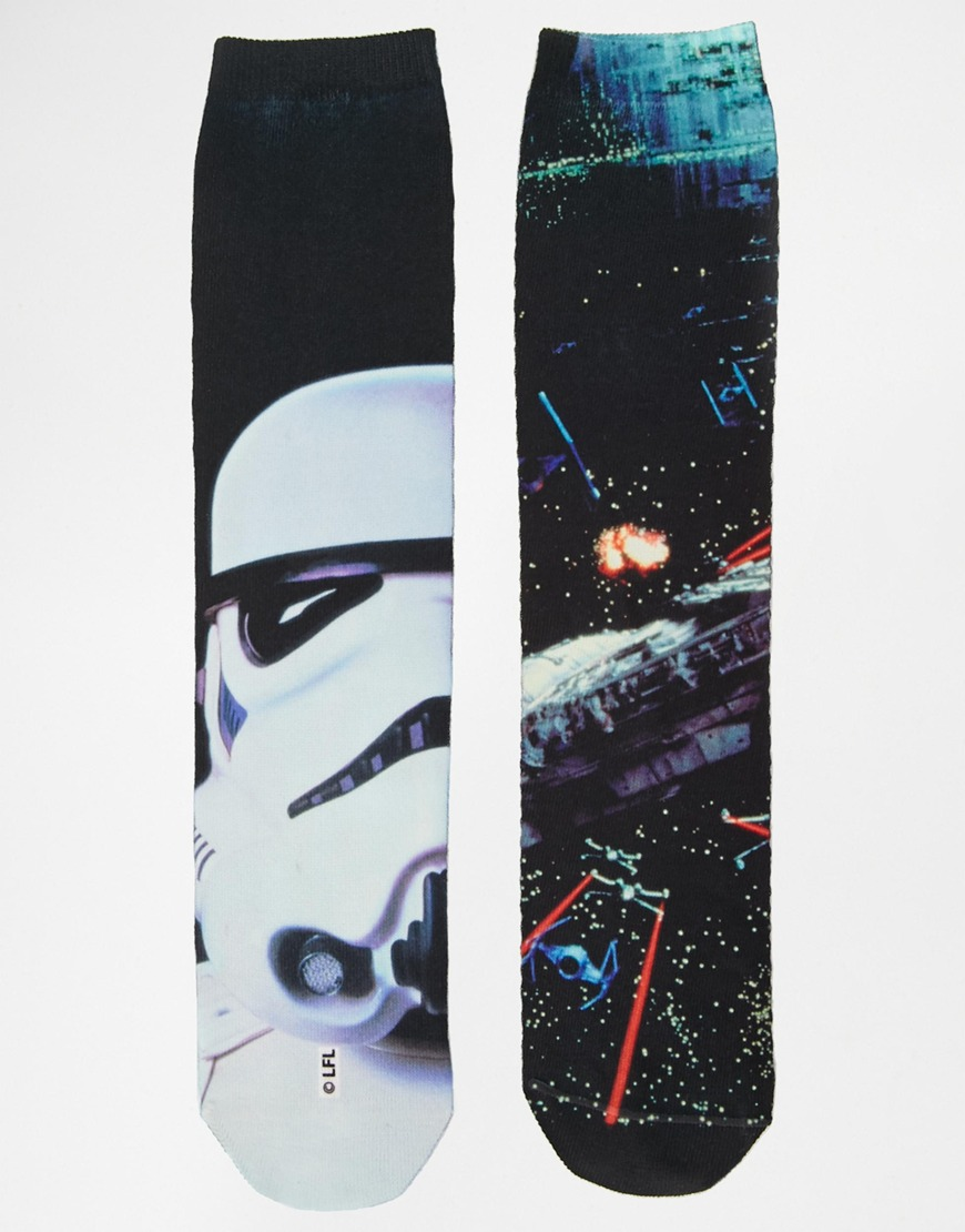 Asos 2 pack socks with star wars sublimation at asos.com