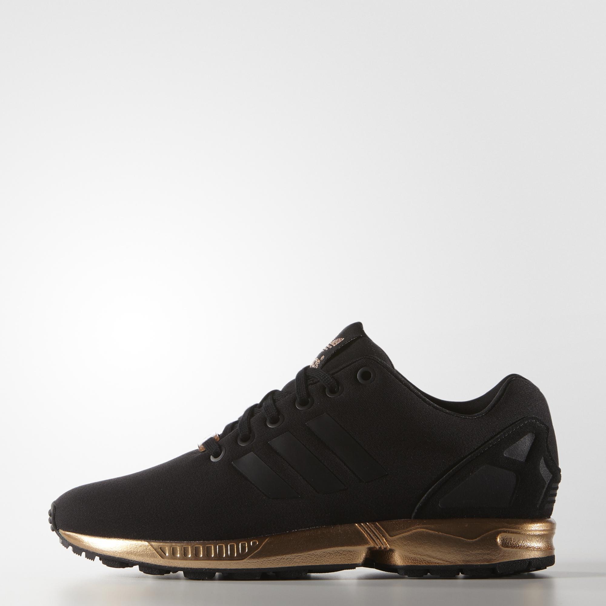 adidas zx flux dames zwart goud
