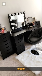 home accessory,makeup table,black vanity