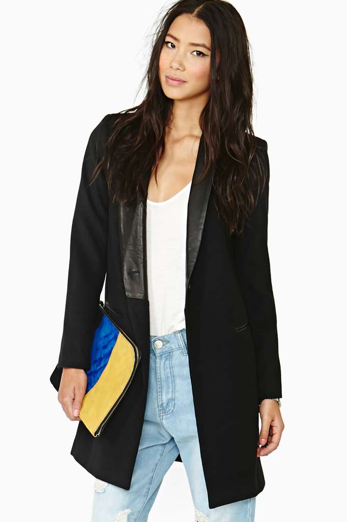 BB Dakota Blair Melton Coat in  Clothes Jackets   Coats at Nasty Gal