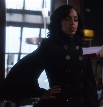 coat olivia pope scandal kerry washington black