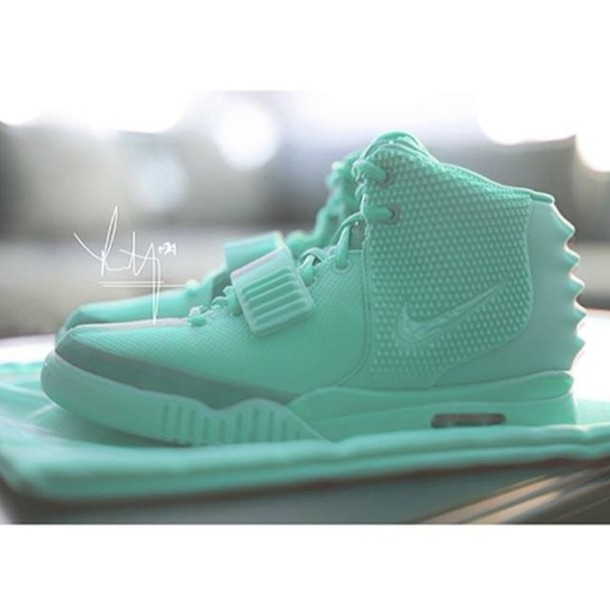 shoes air yeezy 2 mint sneakers sneakers kanye west mint mens shoes yeezy nike aqua