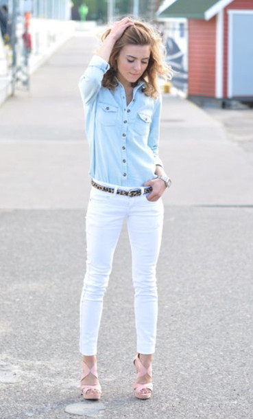 White Blouse And Blue Jeans 111