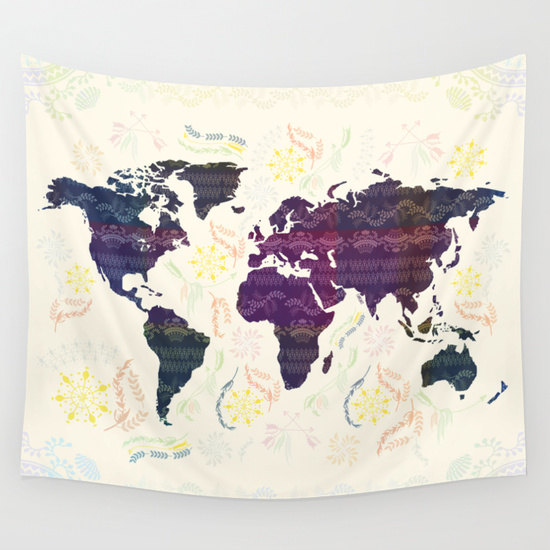 World Map Tapestry Bohemian Wall Tapestry Wall Hanging