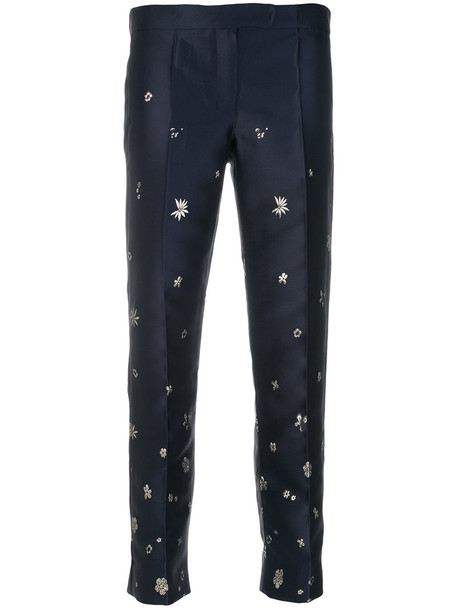 'S Max Mara metallic women blue pants